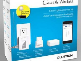 Caseta Wireless Plugin lamp dimmer kit with Smart Bridge