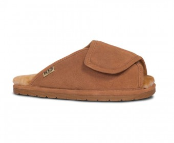 Rjs Fuzzies Sheepskin Medical Wrap Slipper